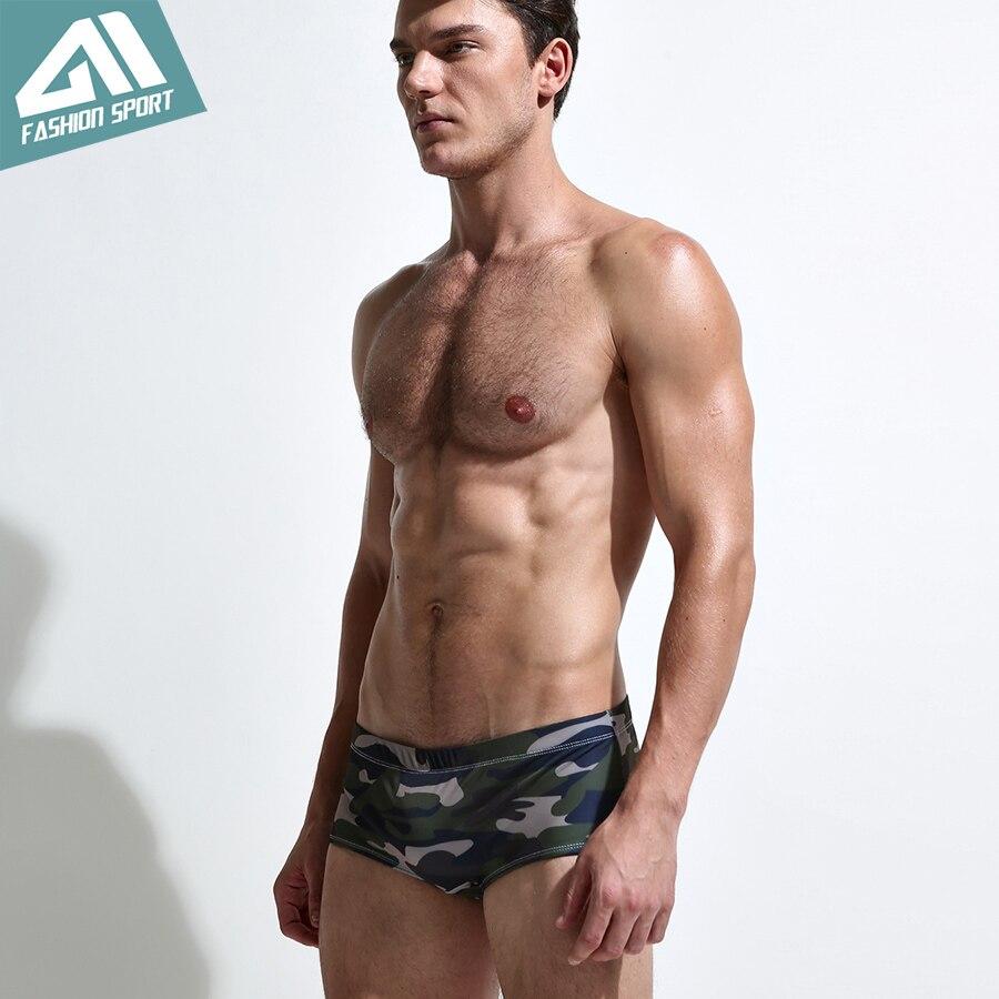 d223f93b19 2018 New Men's Swimwear Low Square Cut Men's Swimming Shorts Athletic  Surfing Men Swim Shorts Beachwear Sport Men Swimsuit SY05-in Body Suits  from Sports ...