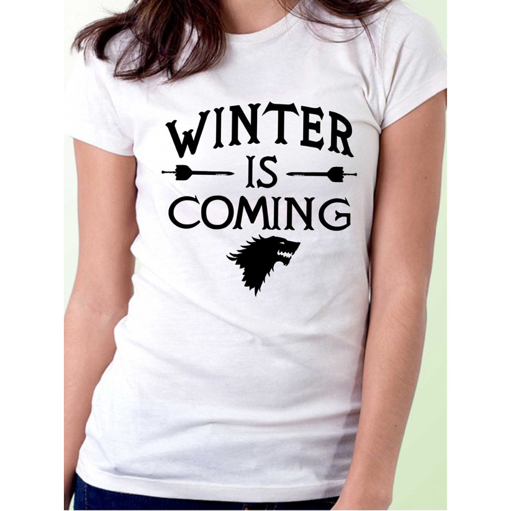 Fashion Games Of Thrones Winter Is Coming Stark Women T Shirts Short