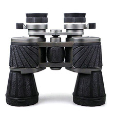 10X50 Telescope High Power Binoculars BAK4 Prism Long Zoom Optical Hunting Tools Prismaticos