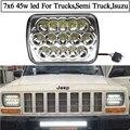 7x6 45w led headlights 7x5 15leds 12V 24V led sealed beam Headlamp university for Ford F250 F350 Super Duty Latest Generation