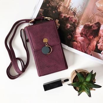 Latest Women Leather Shoulder Wallet Phone bag Case Female Multifunction Coin Change Passport Purse Card Holder Clutch For Girls