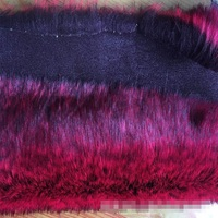 Faux fox fur red dyed pointed artificial fur faux fur