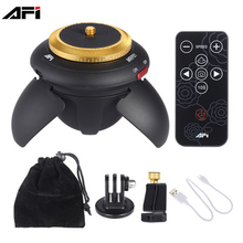 AFI Mini Tripod Head Electric 360 Rotation Panorama Time Lapse Head for GoPro Action Camera for Selfie Stick Smartphones