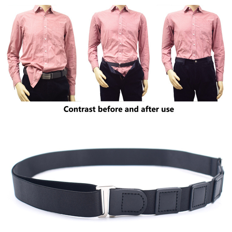 2pcs Polyster Suspenders Shirt Holder Adjustable Near Shirt Stay Best Tuck It Belt For Women Men Work Interview Business Style