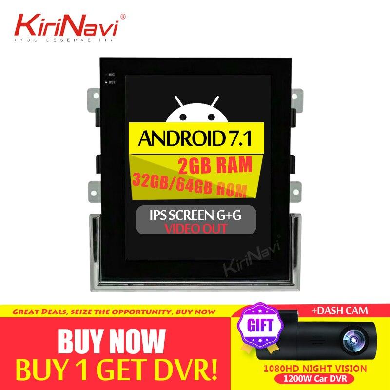 KiriNavi écran Vertical Tesla Style 10.4 pouces Android 7.1 lecteur DVD de voiture pour Porsche Macan Android autoradio Navigation 2011 +