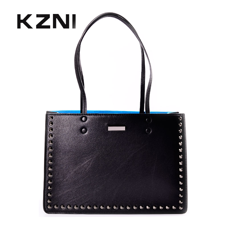 KZNI women leather handbags genuine leather women messenger bags female purses and handbags sac a main bolsa feminina 1441 kzni genuine leather bag female women messenger bags women handbags tassel crossbody day clutches bolsa feminina sac femme 1416