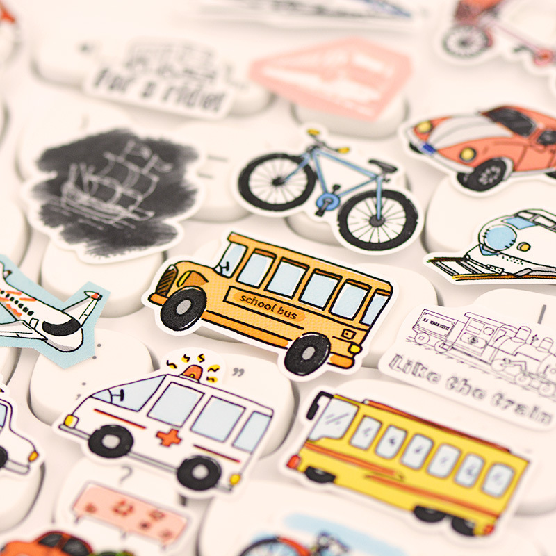 Daily Planet Car Plant Decorative Stationery Stickers Scrapbooking DIY Diary Album Stick Label