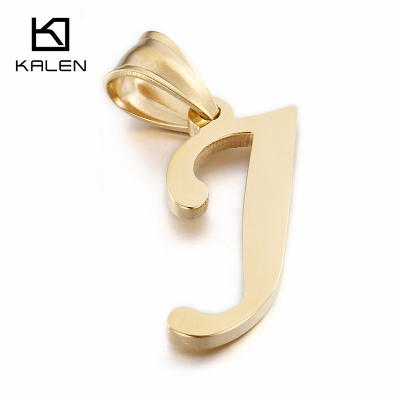 kalen women 26 capital letter necklace men39s stainless With letter j pendant gold