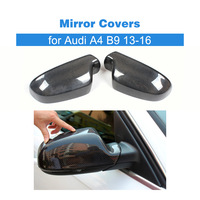 Carbon Fiber Rearview Mirror Cover Caps Add On Style For Audi Side Mirror Cover for Audi A4 B9 13 16 Without Lane Side Assist