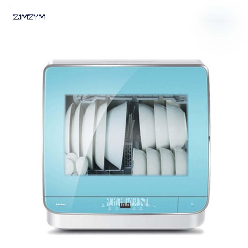1 StÜck Waschschüssel Htaw50stggb Geschirrspüler Hause Vollautomatische Pinsel Schüssel Desktop Kleine Spülmaschine Hohe Temperatur Desinfektion 220 V