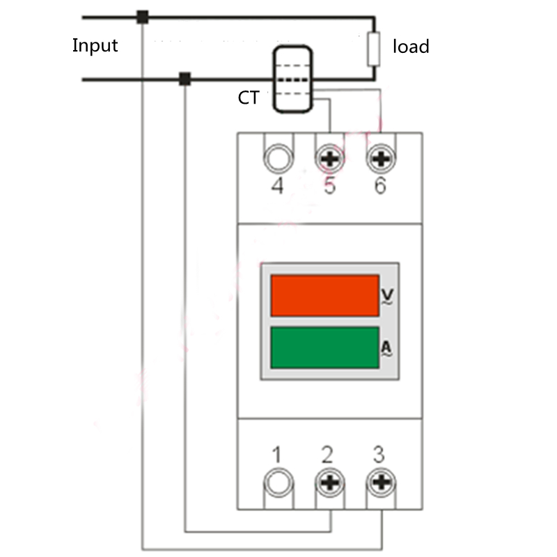 din rail digital 0 100 0a ammeter voltmeter led voltage current rh aliexpress com
