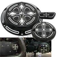 Black CNC Aluminum Dark Fashion Cross Derby Timing Timer Cover Ornamental Guard For Harley Davidson Sportster