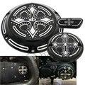 Negro CNC De Aluminio De Moda Cruz Oscuro Derby Temporizador de Tiempo de Cubierta de Hierro Ornamentales para Harley Davidson Sportster XL 883 1200