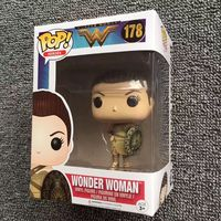 Exclusive Funko pop Official Wonder Woman with Shield #178 Vinyl Action Figure Collectible Model Toy with Original Box