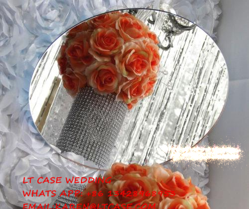 25pcs 40cm Diameter Round Square Acrylic Mirrors For Wedding Table Centerpieces Or Wall Mirror Decor