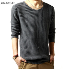 New Men's Sweater 2019 Autumn Winter Casual Slim Fit Men's Long Sleeves Solid Round Collar Soft Wool Pullover Warm Sweater Men