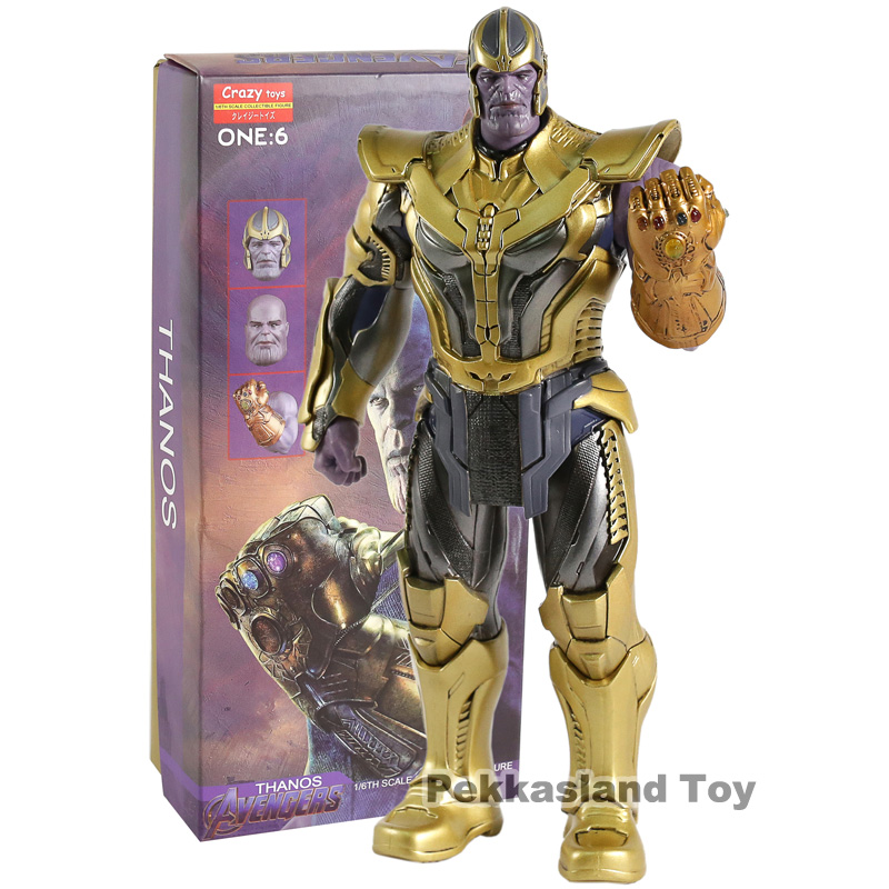 Crazy Toys Avengers Infinity War Thanos 1 6 Scale PVC Action Figure Collectible Model Toy