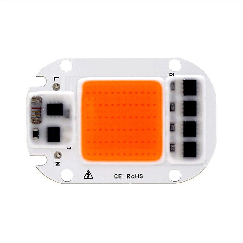 Full Spectrum LED COB Chip For Grow Plant Light 220V 110V 20W 30W 50W Phyto Lamp For Indoor Plant Seedling Grow and Flower