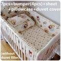 Promoção! 6 / 7 PCS bebê berço cama set berço jogo de cama para bebês de berço, 120 * 60 / 120 * 70 cm