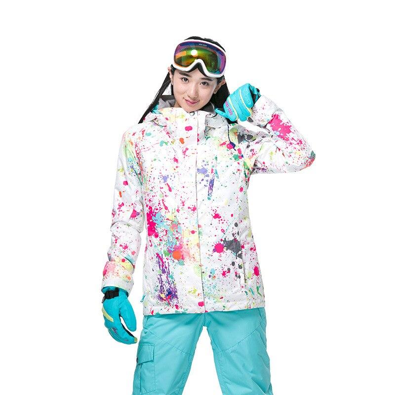 GSOU neige dame hiver Ski costume coupe-vent imperméable respirant chaud veste de Ski neige vêtements pour les femmes taille XS-XL - 3