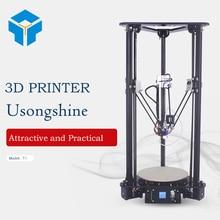 Kit de Impresora 3D barato Fabricante BRAZO color de Alta Velocidad DIY Kossel Polea Delta impresoras Inteligentes imprimante de Nivelación