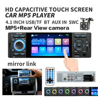 4 Touch Screen Bluetooth Car Radio 1 Din Mirror Link Autoradio Stereo Audio MP5 Video 4 LED Rear View Camera usb aux Player