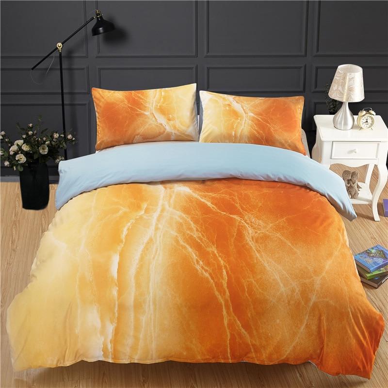 Ensemble de literie d'impression de Texture de marbre ensembles de literie de couette de luxe taies d'oreiller de drap de lit de coton ensemble complet de housse de couette de jumeau de reine
