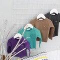 2017 algodón resorte de la manera caliente Al Por Mayor de bolsillo color Puro Camiseta color de la selección