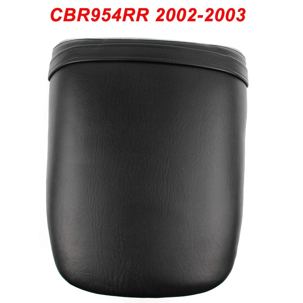 For 02-03 Honda CBR954RR CBR 954RR 954 RR Motorcycle Rear Passenger Seat Cushion Pillion Leather Pad 2002 2003For 02-03 Honda CBR954RR CBR 954RR 954 RR Motorcycle Rear Passenger Seat Cushion Pillion Leather Pad 2002 2003