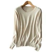 2018 Fashion Pure Color Cashmere Women S Sweaters O Neck Spring Autumn Female Knitted Sweater Loose