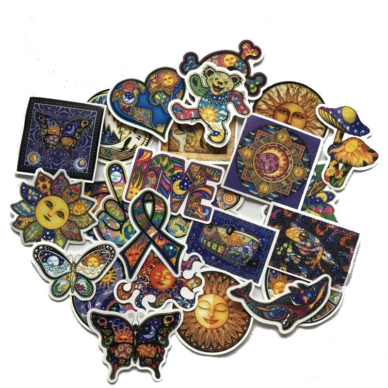 25pcs World Peace Illustration Art Western Color Graffiti Sticker Car Notebook Suitcase Waterproof Children Toy Sticker F2