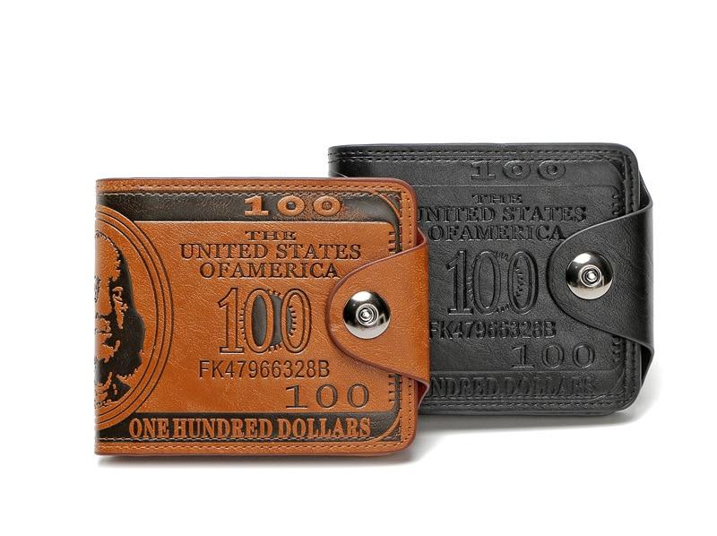 Tara Sergy Dollar Price Pattern Designer Men's Leather Wallets Male Men Credit Card Holder Purses Wallet Carteira Feminina card