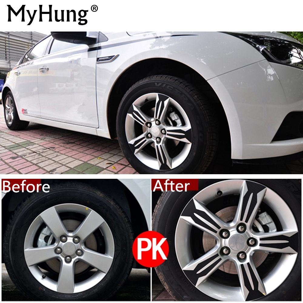 4D Carbon Fiber Car Wheel Hub Stickers Rim Sticker Decoration Special For Chevrolet Chevy Cruze 2009 To 2013 Car-Styling 20pcs