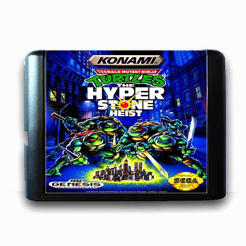 Teenage Mutant Ninja Turtles the Hyper Stone Heist 16 bit Sega MD Game Card for Mega Drive for Genesis цены онлайн