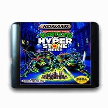 Ninja Mutante adolescente Tartarugas a Hiper Pedra Assalto de 16 bits da Sega MD Cartão de Jogo para o Mega Drive para Genesis