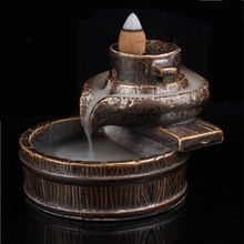 Creative Ceramic Backflow Incense Burner Cone Sandalwood Aromatherapy Supplies Home Decoration