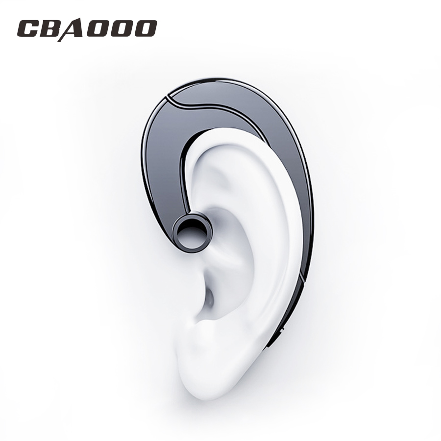 CBAOOO Wireless Bluetooth Earphone Ear Hook Bluetooth Headset Waterproof Noise reduction Stereo with Mic for Android iPhone new sport running bluetooth wireless ear hook earphone super stereo bass headset noise reduction lot ib for android ios phones
