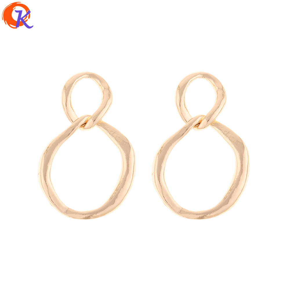 Cordial Design 50Pcs 19*30MM Jewelry Accessories/Earring Connectors/Ring Shape/Zinc Alloy/DIY Parts/Hand Made/Earring Findings
