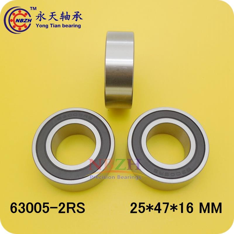 4PCS Excavator bearing 63005 2RS 63005-2RS 25*47*16mm 25X47X16mm Double Shielded Deep Ball Bearings Large breadth 4pcs excavator bearing 63005 2rs 63005 2rs 25 47 16mm 25x47x16mm double shielded deep ball bearings large breadth