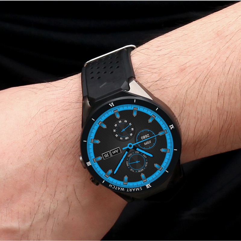 купить DEHWSG KW88 MAX Bluetooth Smart Watch with Camera 2GB RAM 16GB ROM Support SIM Card 3G WIFI GPS Smartwatch for Android IOS Phone по цене 6540.1 рублей