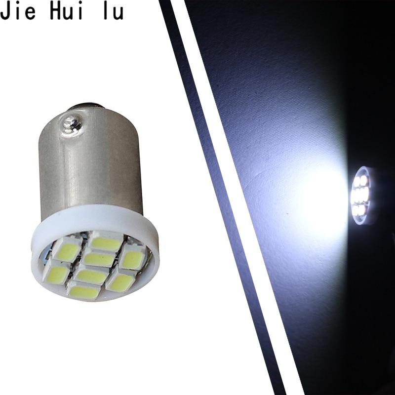 1PCS High Quality T4W BA9S 8 SMD 1206 LED Interior Light 3020 8smd Wedge Auto Reading Dome Lamps Car Marker Light 8led DC 12V