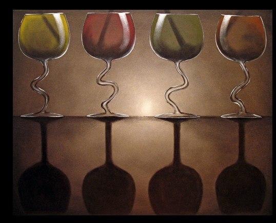 Parete Dacqua In Casa : Dipinta a mano di arte della parete strano bicchiere d acqua