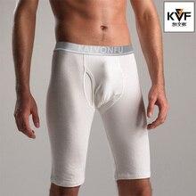 Fashion Style Men Sleep Bottoms Underwear Long Boxer Knee Length Shorts Sexy Low
