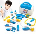 Bebé divertido kids toys doctor play sets inyecciones estetoscopio médico caja de la medicina simulación pretent toys regalos de los niños