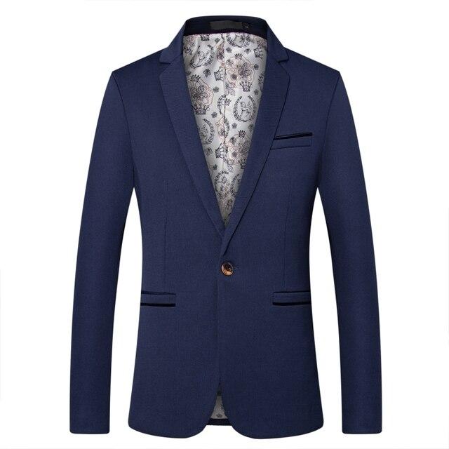 2018 חדש הגעה יוקרה גברים בלייזר חדש אביב אופנה מותג באיכות גבוהה כותנה Slim Fit גברים חליפת Terno Masculino טרייל גברים