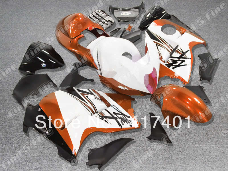 85325dccf Orange blanco negro para Hayabusa gsxr1300 96-07 GSX r1300 gsxr 1300  gsx-r1300 96 97 98 99 00 01 02 03 04 05 06 07 Kit de carenado ABS
