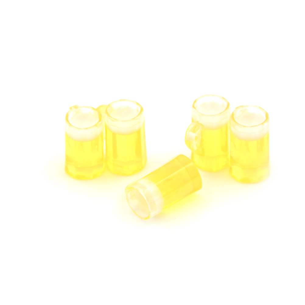 5Pcs 1/12 Dollhouse Miniature Plastic Beer Mugs Cup Classic Toys Christmas Gift Pretend Play Classic Toys For Children Kids