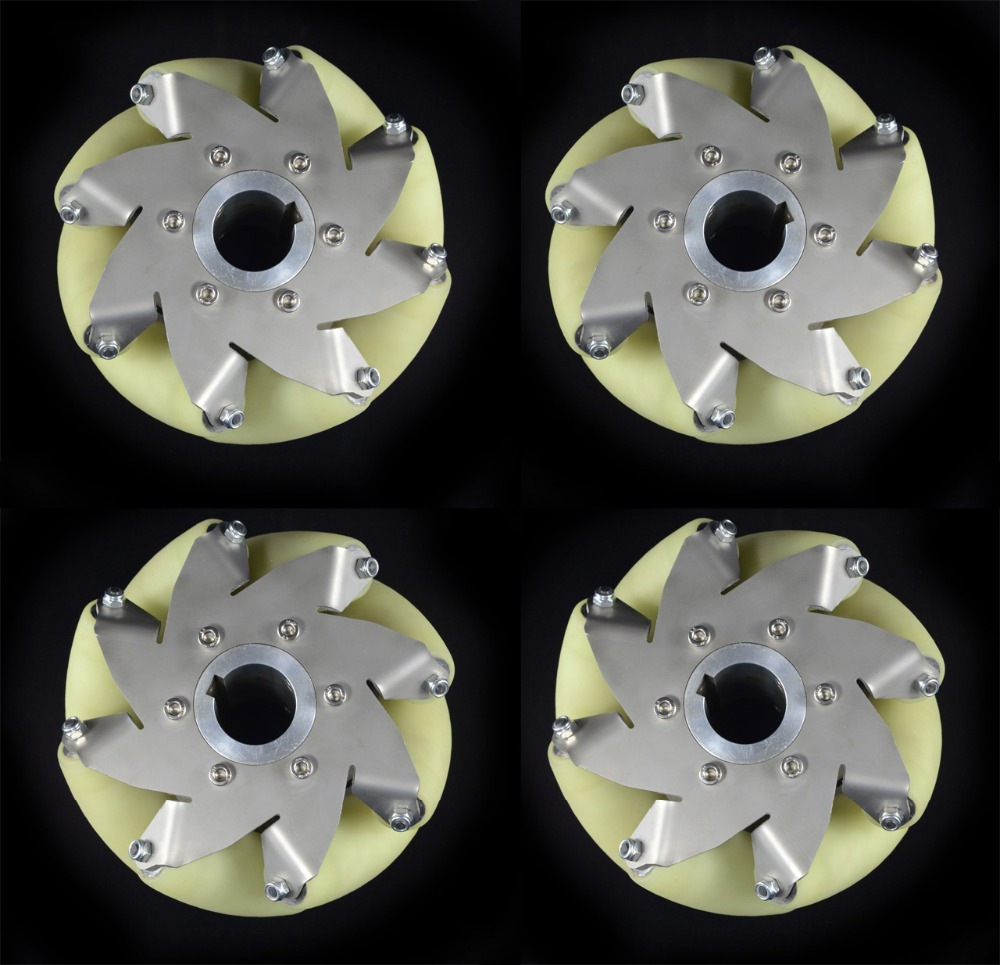 A Set Of Heavy Duty Mecanum Wheel With Imported Material Pu Roller 14169