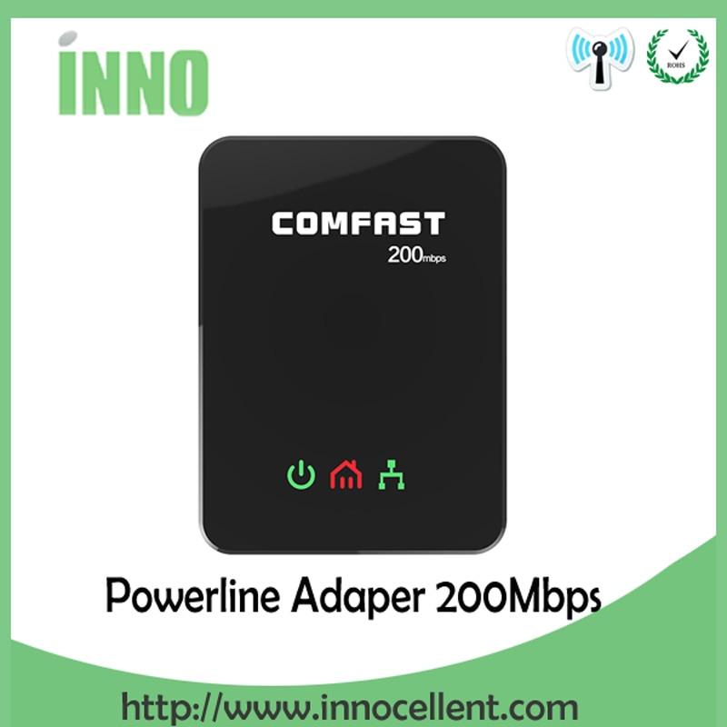 Paar 200 Mbps Powerline PLC Adapter Networking stromleitungen ethernet home plug verlängern...