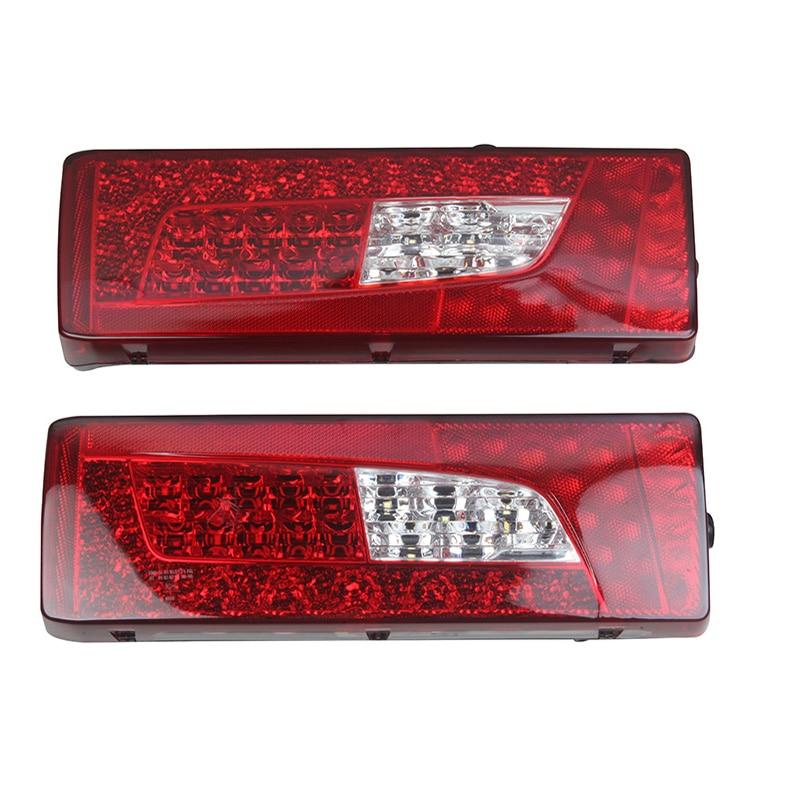 1Pair 24V Truck LED Rear Tail Lights Stop Turn Signal Lamp for SCANIA Truck Trailer Caravan